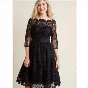 Modcloth Black Lace Chi Chi London Dress  NWT